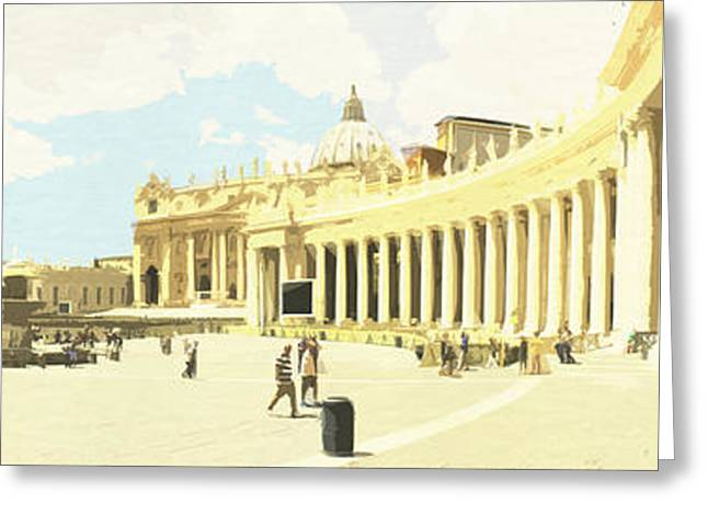 St. Peter's Square The Vatican Greeting Card