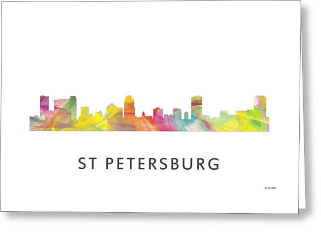 St Petersburg Florida Skyline Greeting Card