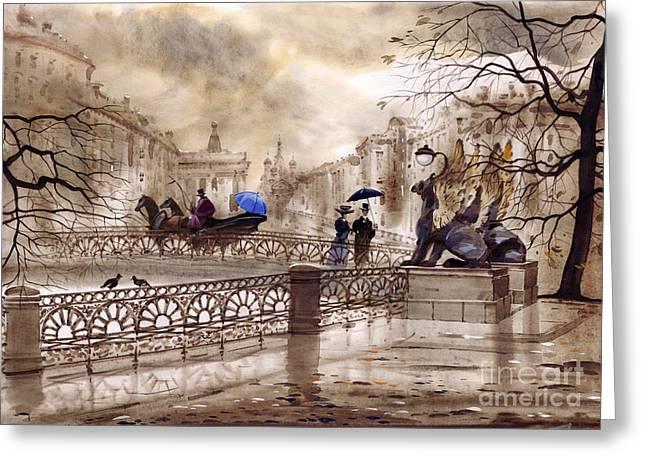St. Petersburg II Greeting Card by Svetlana and Sabir Gadghievs