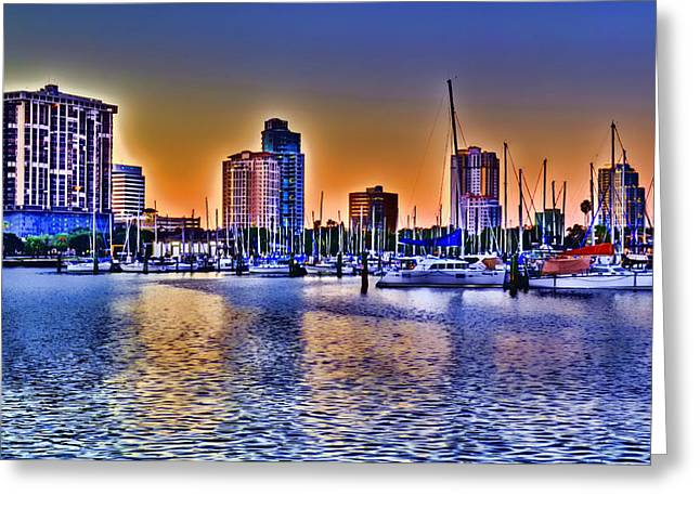 St. Petersburg Sunset Greeting Card by Don McBride
