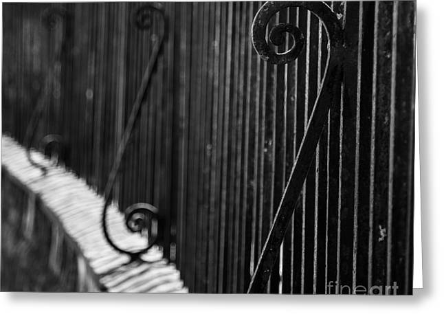 St. Philip's Episcopal Church Cemetery Iron Fence Greeting Card