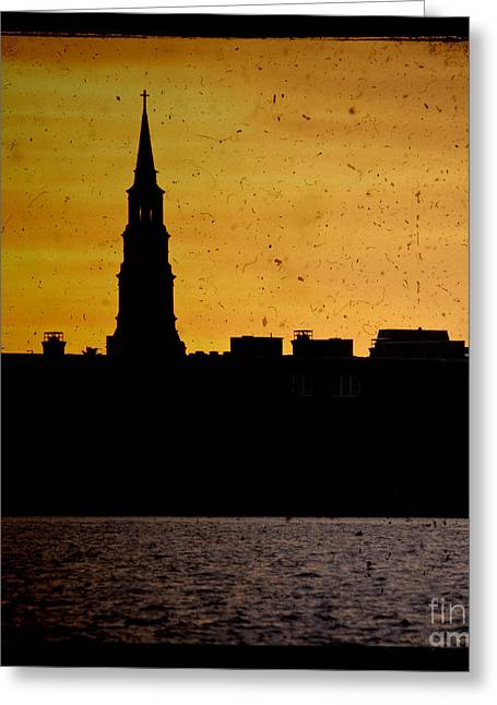 St Phillips Church Charleston Sc Sunset Greeting Card by Dustin K Ryan
