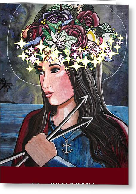 St. Philomena Greeting Card