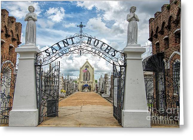 Greeting Card featuring the photograph St. Roch's Cemetery In New Orleans, Louisiana by Bonnie Barry