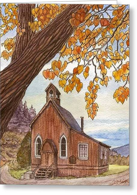 St. Saviour's In Autumn Greeting Card by Tahirih Goffic