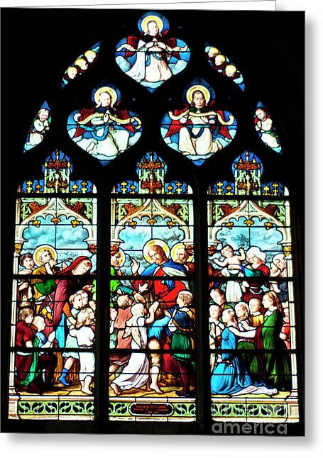 St. Severin Chuch Stain Glass Greeting Card