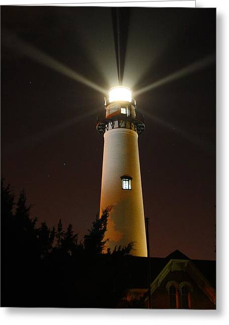St Simons Island Lighthouse Greeting Card by Kathryn Meyer