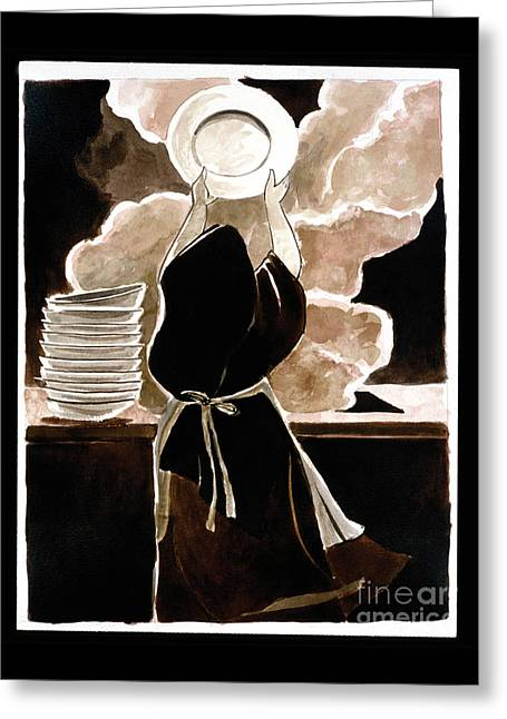 St. Therese Doing The Dishes - Mmdtd Greeting Card