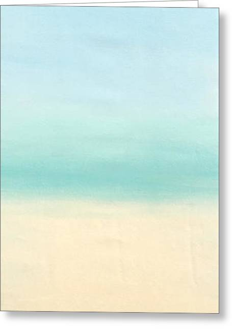 St Thomas #1 Seascape Landscape Original Fine Art Acrylic On Canvas Greeting Card