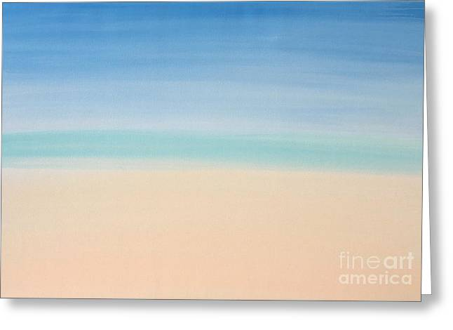 St Thomas #2 Seascape Landscape Original Fine Art Acrylic On Canvas Greeting Card