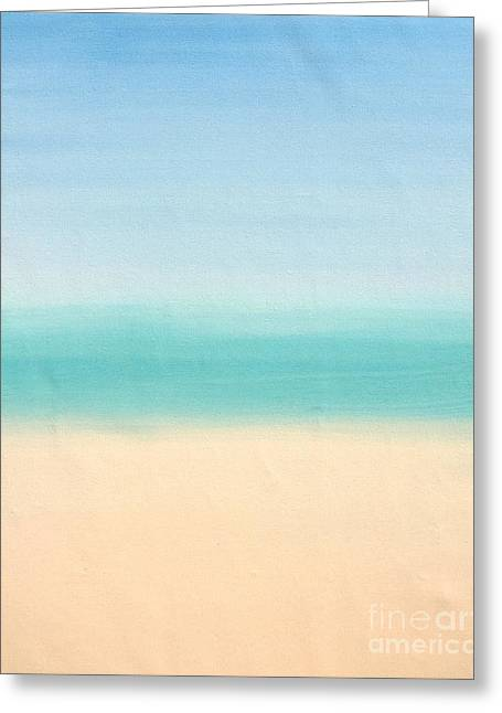 St Thomas #3 Seascape Landscape Original Fine Art Acrylic On Canvas Greeting Card