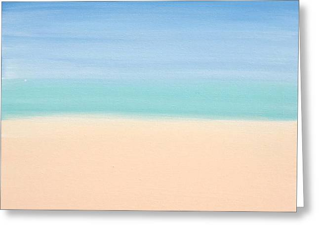 St Thomas #4 Seascape Landscape Original Fine Art Acrylic On Canvas Greeting Card