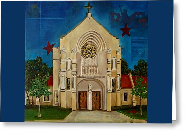 St Thomas Aquinas Greeting Card by Katrina Rasmussen