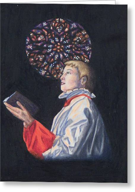 St. Thomas Episcopal Nyc Choir Boy Greeting Card