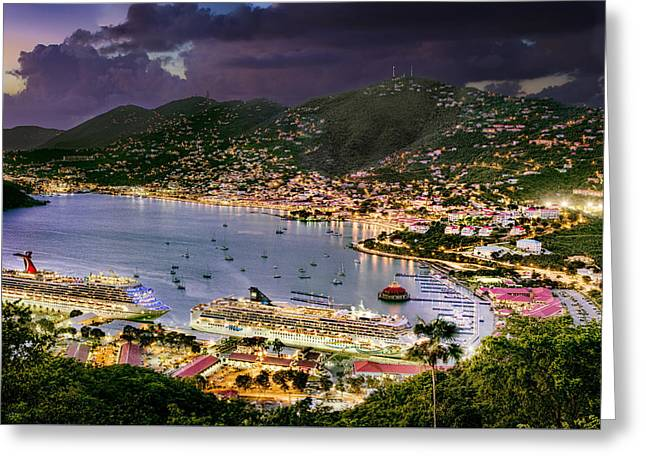 St Thomas Nights Greeting Card