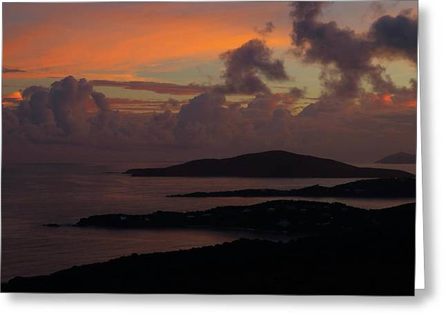 Greeting Card featuring the photograph St Thomas Sunset At The U.s. Virgin Islands by Jetson Nguyen