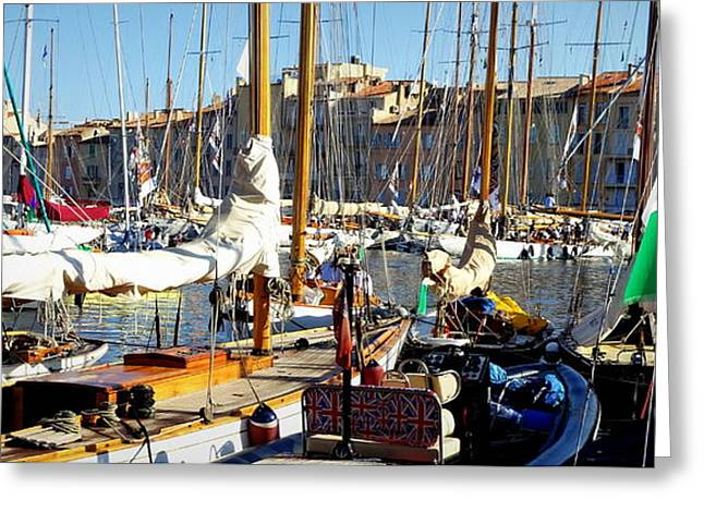 St Tropez Harbor Greeting Card