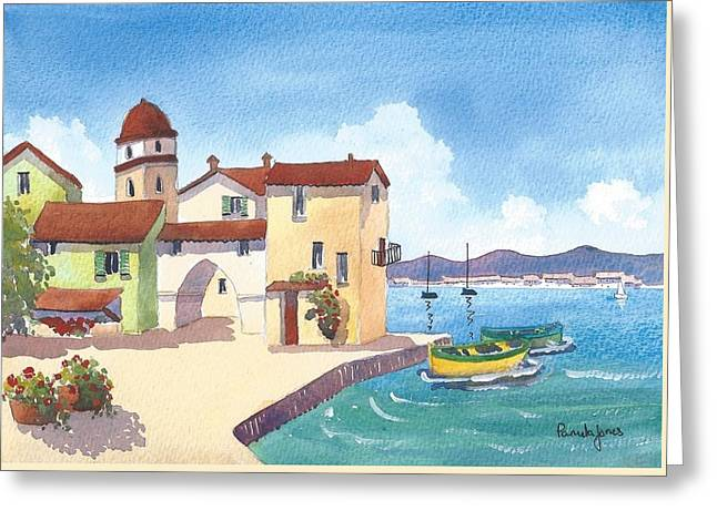St Tropez Harbour South Of France Greeting Card