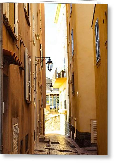 St. Tropez - Narrow Streets  Greeting Card by Turtle Shoaf