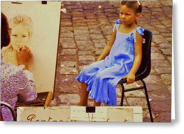 St. Tropez Portrait Painter Greeting Card by Marcus Dagan