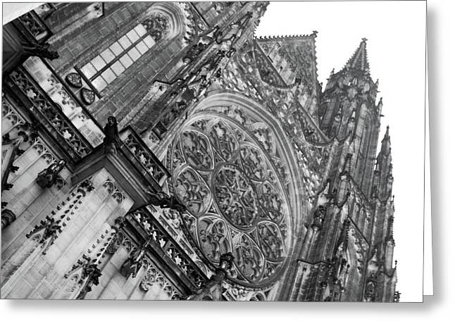 Greeting Card featuring the photograph St. Vitus Cathedral 1 by Matthew Wolf