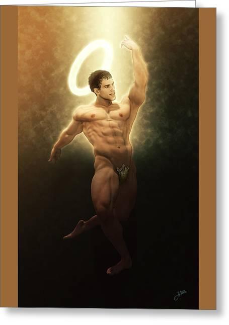 St. Vitus Dance Greeting Card by Joaquin Abella
