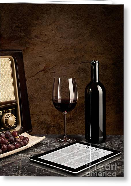 Stability Of Wine Beside The Old And New Technology Greeting Card