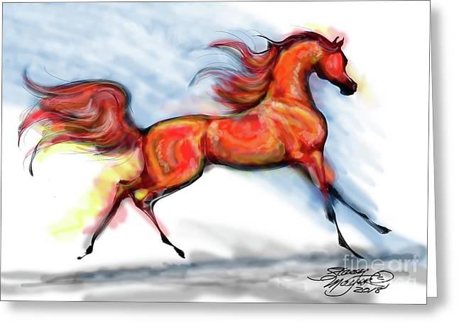 Staceys Arabian Horse Greeting Card