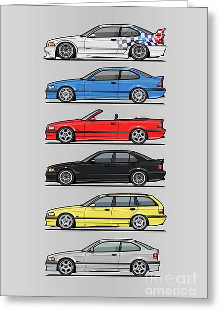 Stack Of E36 Variants Greeting Card