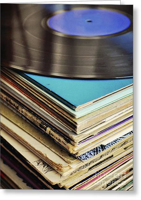 Stack Of Records Greeting Card