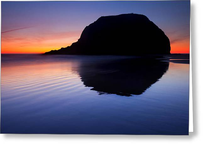 Stack Reflections Greeting Card by Mike  Dawson