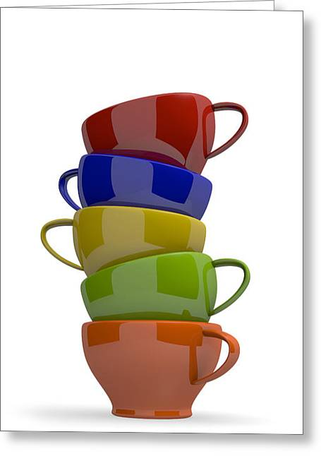 Stacked Cups Greeting Card