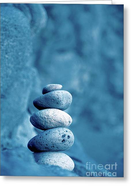 Stacked Pebbles Greeting Card by Gaspar Avila