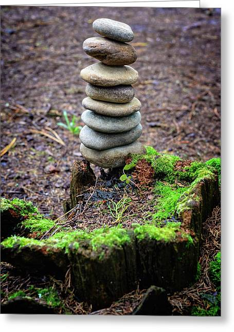 Greeting Card featuring the photograph Stacked Stones And Fairy Tales II by Marco Oliveira
