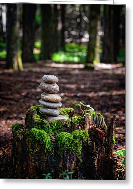 Greeting Card featuring the photograph Stacked Stones And Fairy Tales IIi by Marco Oliveira