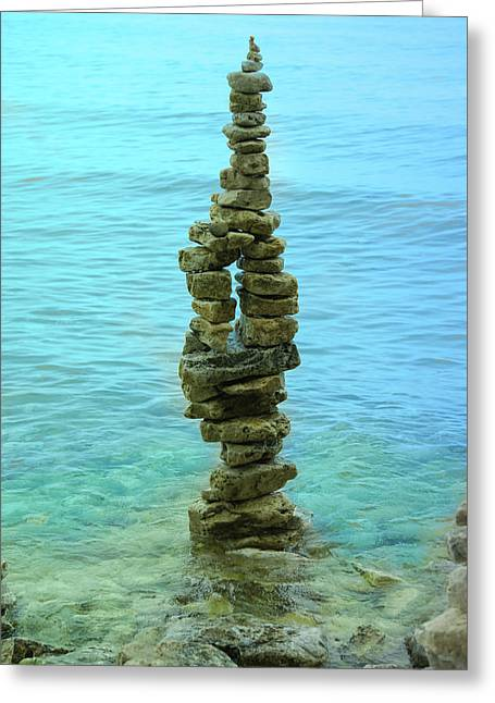 Stacked Stones Greeting Card