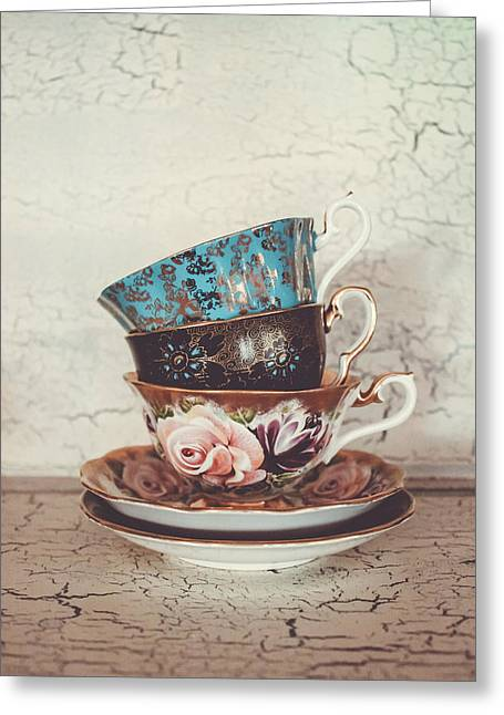 Stacked Teacups IIi Greeting Card