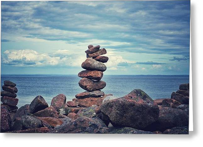 Stacked Zen Greeting Card
