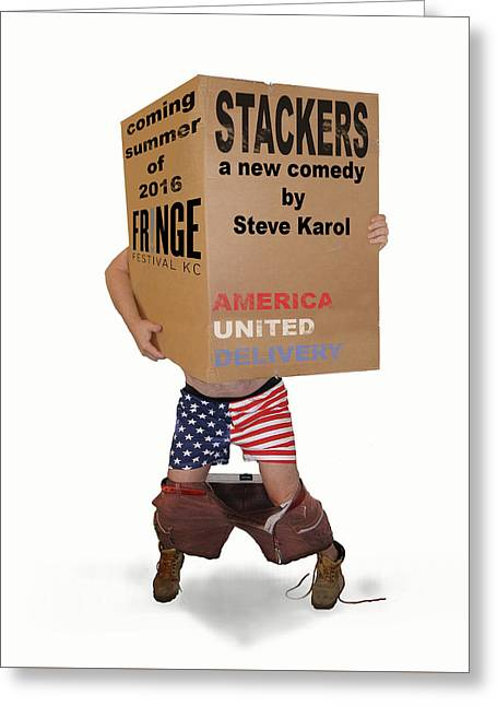 Stackers Poster Greeting Card