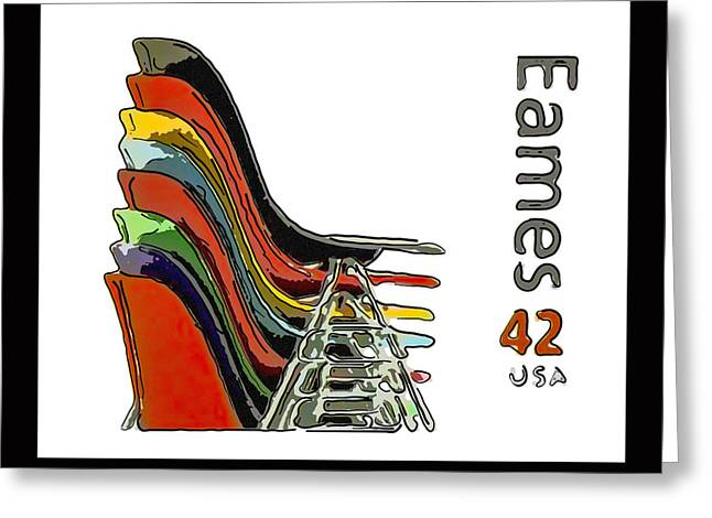 Stacking Chairs Greeting Card by Lanjee Chee