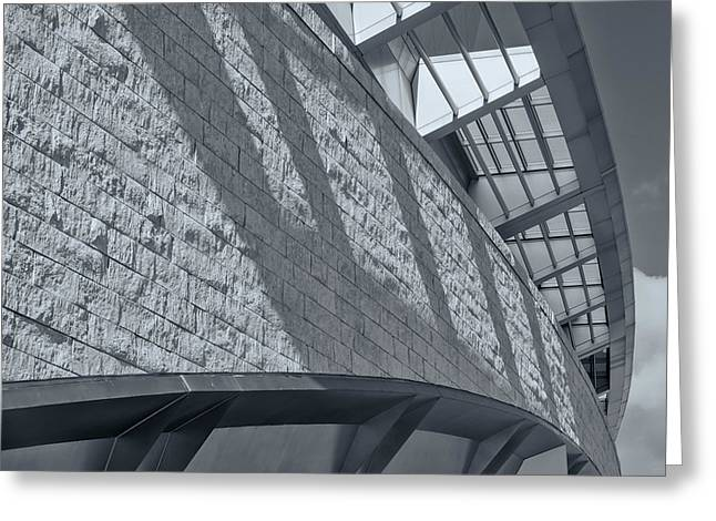 Stadium Abstract Greeting Card by Joan Carroll