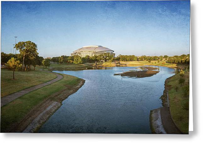 Stadium And Park Panorama Bleach Bypass Greeting Card