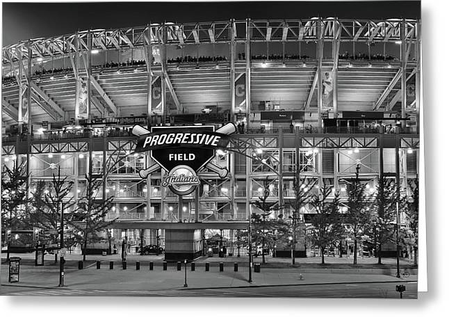 Stadium Black And White Greeting Card by Frozen in Time Fine Art Photography