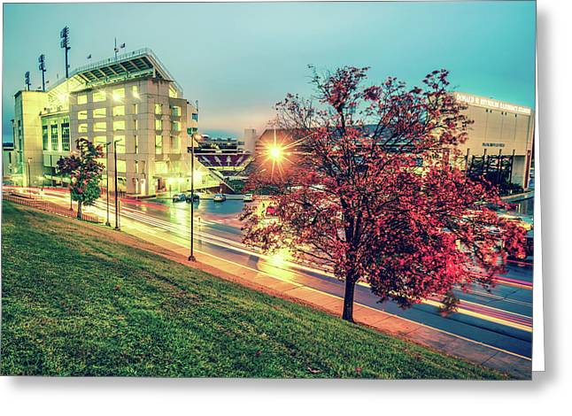 Stadium Of The Arkansas Razorbacks Football - Donald W. Reynolds Stadium - Fayetteville Arkansas Greeting Card by Gregory Ballos