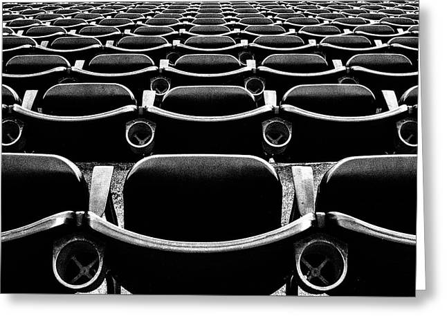 Stadium Seats Greeting Card by Mike Albright