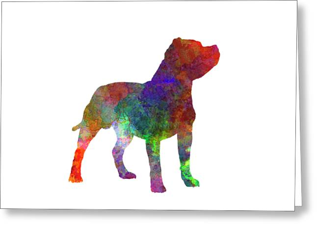 Staffordshire Bull Terrier In Watercolor Greeting Card