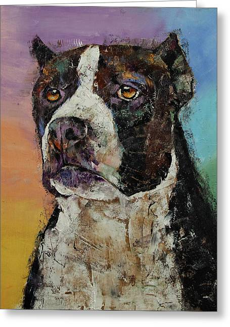 Staffordshire Terrier Greeting Card