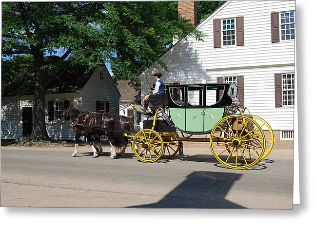 Stage Coach Greeting Card by Eric Liller