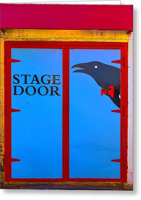 Stage Door Greeting Card by Garry Gay