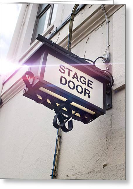 Stage Door Sign Greeting Card
